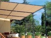 Bâche pour pergola arrondie 900g PVC standard - 400 cm x 450 cm - 4 m x 4,5 m