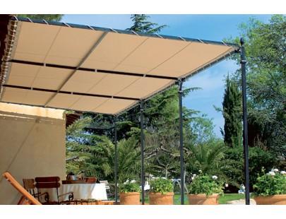 Bâche pour pergola vague 900g PVC standard - 140 cm x 600 cm - 1,4 m x 6 m