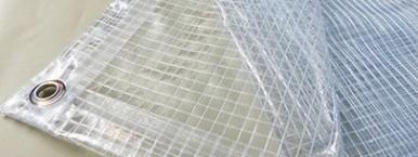 Toile Pergola 400g transparente armée