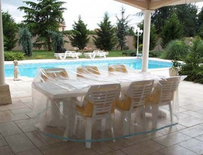 Housse pour salon table rectangulaire + chaises