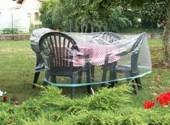 Housse pour salon table ronde + chaises