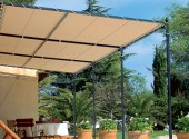 Bâche pour pergola Plate 900g PVC standard - 200 cm x 600 cm - 2 m x 6 m